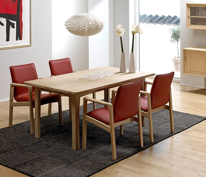 Well Known Classic Dining Room Tables – Solid Wood Wharfside Danish Furniture With Regard To Beech Dining Tables And Chairs (View 19 of 20)