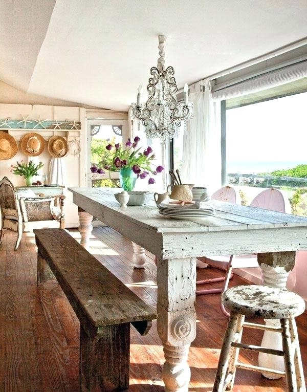 Well Known Coastal Dining Room Sets Beach House Dining Table Coastal Dining With Coastal Dining Tables (View 11 of 20)