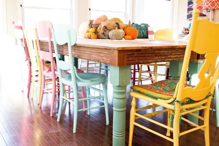 Well Known Colourful Dining Tables And Chairs Intended For  (View 17 of 20)