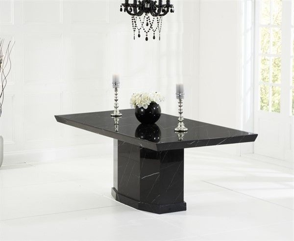 Well Known Como Dining Tables With Como Black Constituted Marble Dining Table (View 16 of 20)