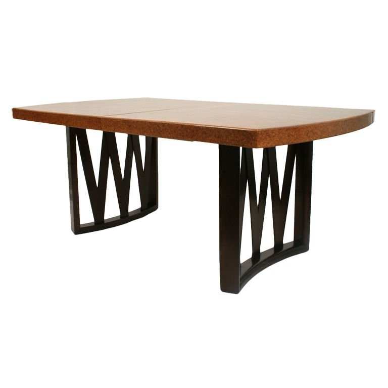 Well Known Cork Dining Tables Regarding Paul Frankl 1940S Dining Table In Mahogany And Cork At 1Stdibs (View 17 of 20)