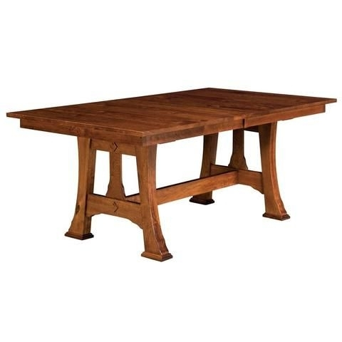 Well Known Craftsman Rectangle Extension Dining Tables Within Barstow Trestle Extension Table (View 18 of 20)