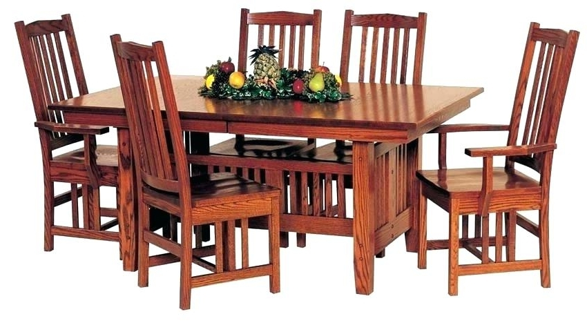 Well Known Craftsman Round Dining Tables Inside Craftsman Dining Table Council Din Round Seats 8 – Chann (View 19 of 20)