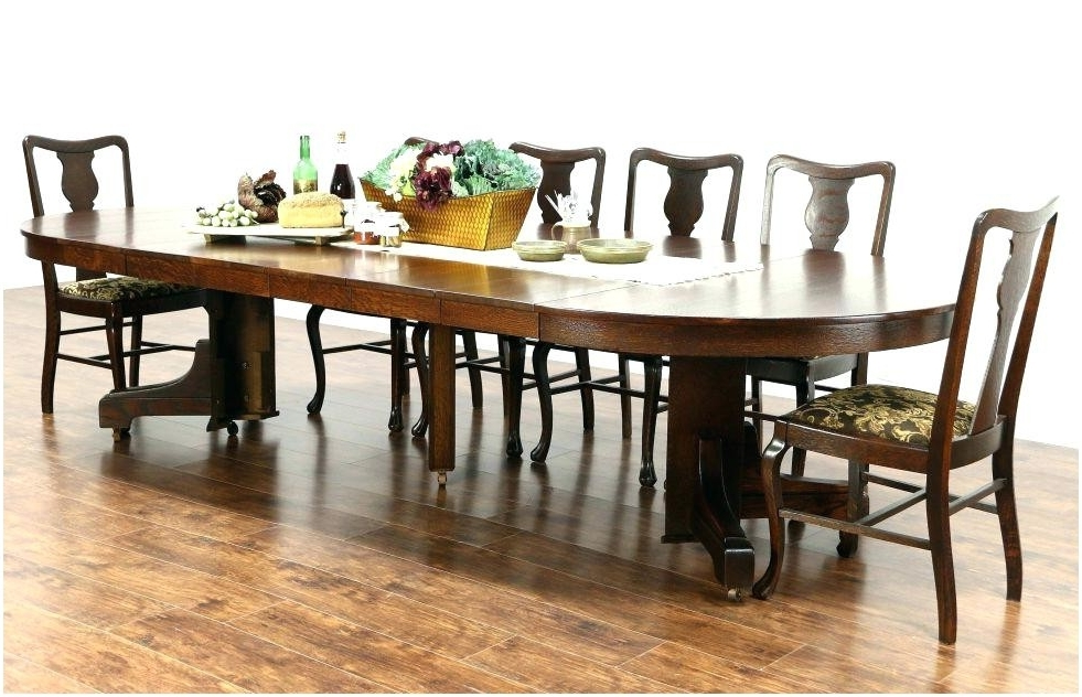 Well Known Craftsman Round Dining Tables Regarding Dining Table Sears Round Dining Table Sets Room Mission Kitchen (View 20 of 20)