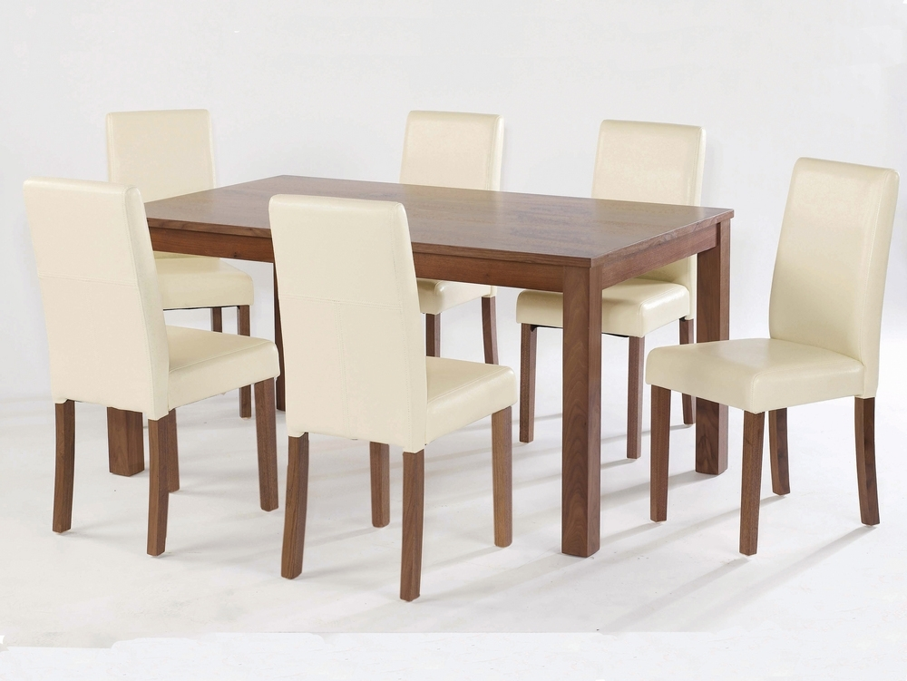 Well Known Cream Faux Leather Dining Chairs In Lpd Brompton Set Of 2 Cream Faux Leather Dining Chairs (View 17 of 20)