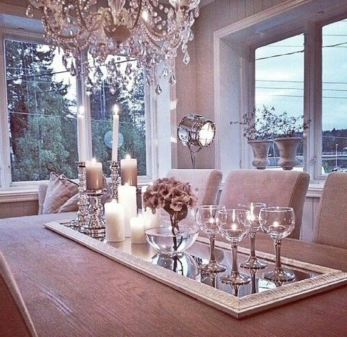 Well Known Crystal Dining Tables With Lovely Table Center Piece (View 19 of 20)