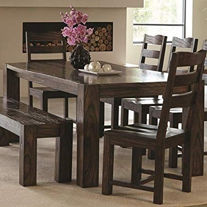 Well Known Dark Brown Wood Dining Tables Throughout Amazon – Coaster 121151 Home Furnishings Dining Table, Dark (View 19 of 20)