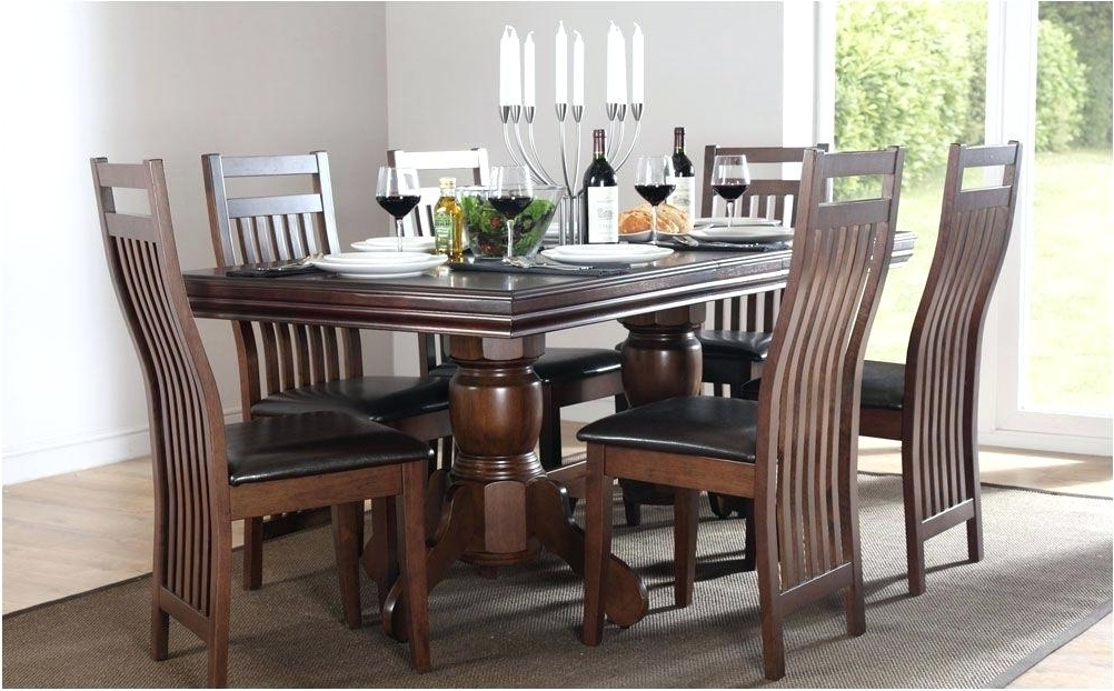 Well Known Dark Wood And White Dining Table Dark Wood Dining Table White Chairs For Dark Wood Dining Tables And Chairs (View 20 of 20)