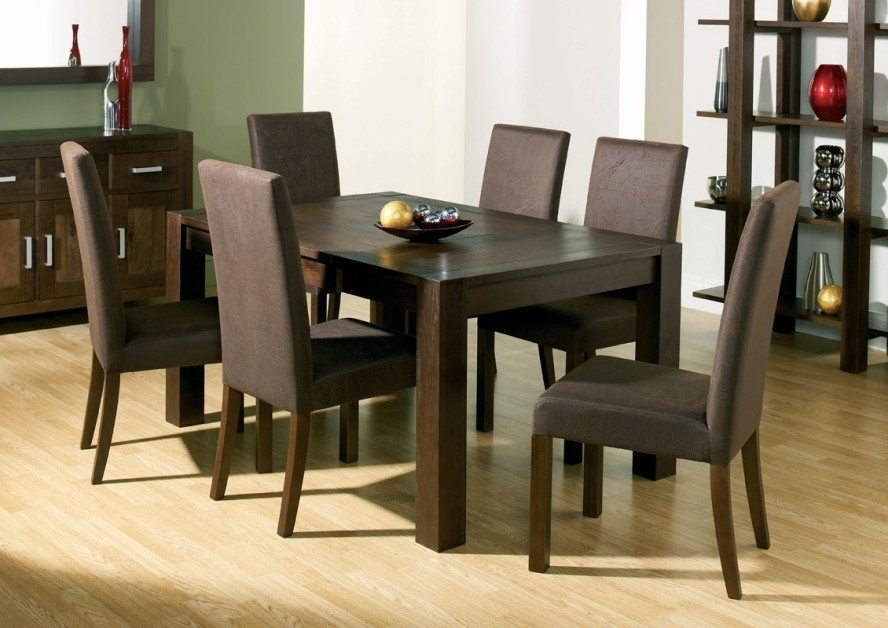 Well Known Dark Wood Dining Room Furniture Within Dining Room Handcrafted Wooden Dining Tables Dark Wood Dining Table (View 14 of 20)