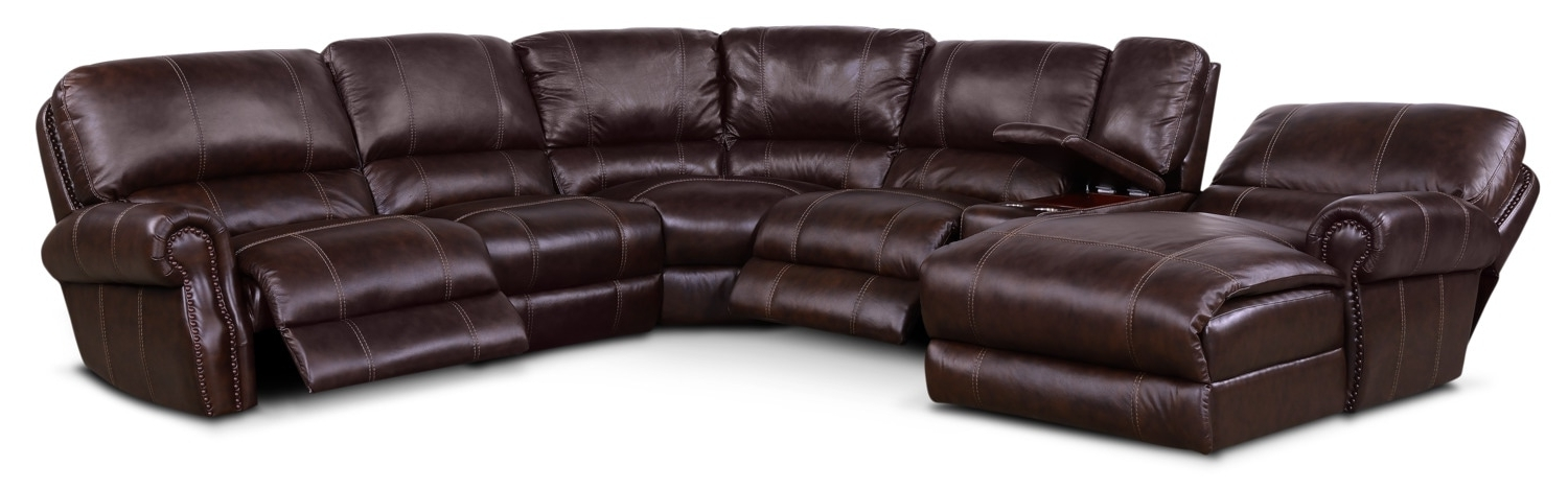Well Known Dartmouth 6 Piece Power Reclining Sectional W/ Left Facing Chaise Inside Norfolk Grey 6 Piece Sectionals With Laf Chaise (View 15 of 15)