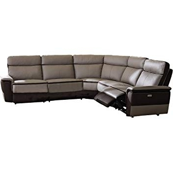 Well Known Declan 3 Piece Power Reclining Sectionals With Right Facing Console Loveseat Intended For Amazon: Homelegance Amite 6 Piece Power Reclining Sectional Sofa (View 8 of 15)