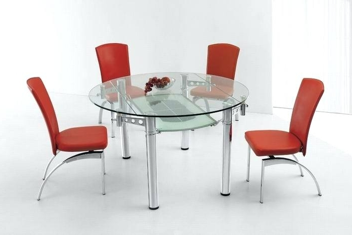 Well Known Decoration: Round Glass Dining Table For 4 In Glass Round Extending Dining Tables (View 19 of 20)