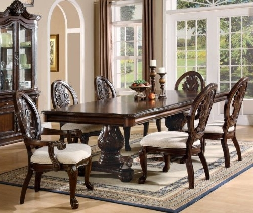 Well Known Dining Room Tables And Chairs With Amazon – 7pc Formal Dining Table & Chairs Set With Claw Design (View 6 of 20)