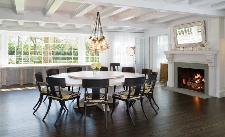 Well Known Dining Tables: Glamorous Large Round Dining Table Seats 6 Round In Large White Round Dining Tables (View 20 of 20)