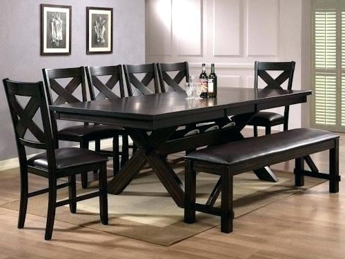 Well Known Dining Tables Set For 8 Intended For Remarkable Dining Room Sets For 8 8 Table And Chairs Glass Dining (View 20 of 20)