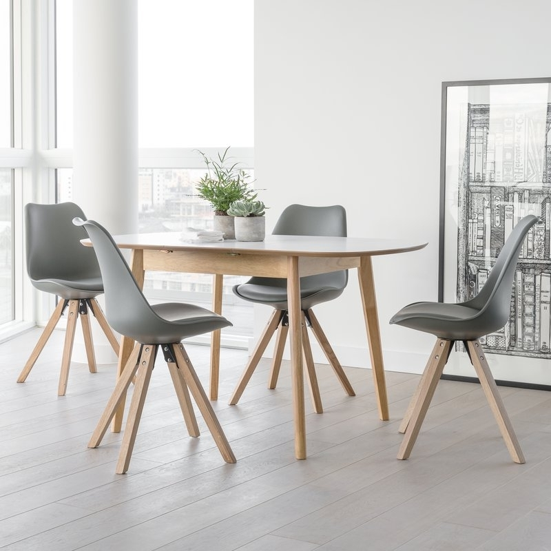 Well Known Extendable Dining Tables And 4 Chairs With Regard To Norden Home Fabron Extendable Dining Set With 4 Chairs & Reviews (View 18 of 20)