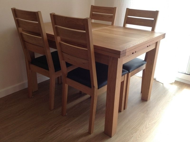 """Well Known Extendable Dining Tables And 6 Chairs Inside Solid Oak Extendable Dining Table And 6 Chairs From """"compton"""" Range (View 20 of 20)"""