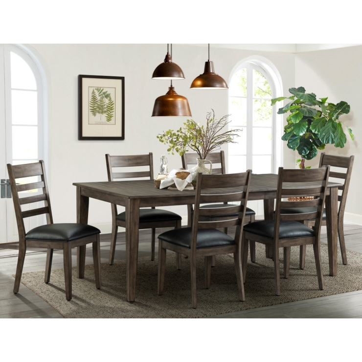 Well Known Extending Dining Room Tables And Chairs Regarding Imagio Home Solid Wood Extending Dining Room Table + 6 Chairs (View 19 of 20)