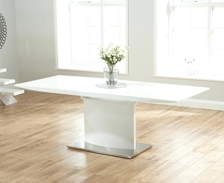 Well Known Extending White Gloss Dining Tables Within White High Gloss Dining Table – Yourlegacy (View 20 of 20)