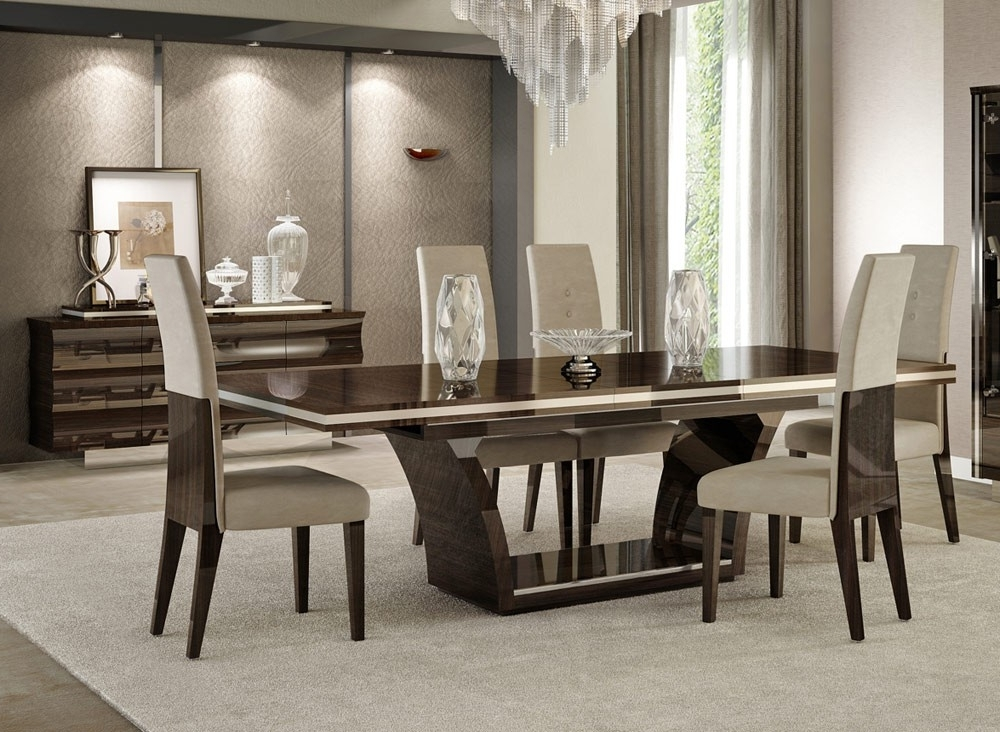 Well Known Giorgio Italian Modern Dining Table Set Pertaining To Modern Dining Room Furniture (View 20 of 20)