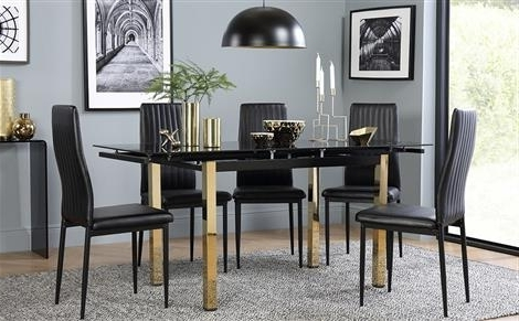 Well Known Glass Dining Table & Chairs – Glass Dining Sets (View 10 of 20)