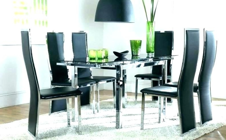 Well Known Glass Dining Tables And 6 Chairs With Round Glass Dining Table For 6 – Carpentry Solutions (View 11 of 20)