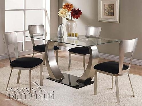 Well Known Glass Dining Tables Sets For Table (View 18 of 20)