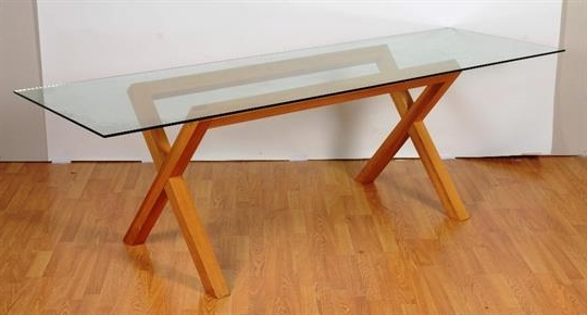 Well Known Glass Dining Tables With Oak Legs With A Contemporary Glass Dining Table, The Rectangular Top On Oak (View 18 of 20)