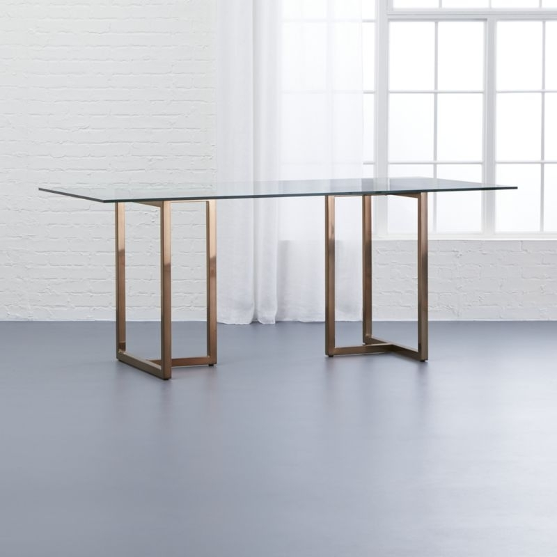 Well Known Glass Dining Tables (View 19 of 20)