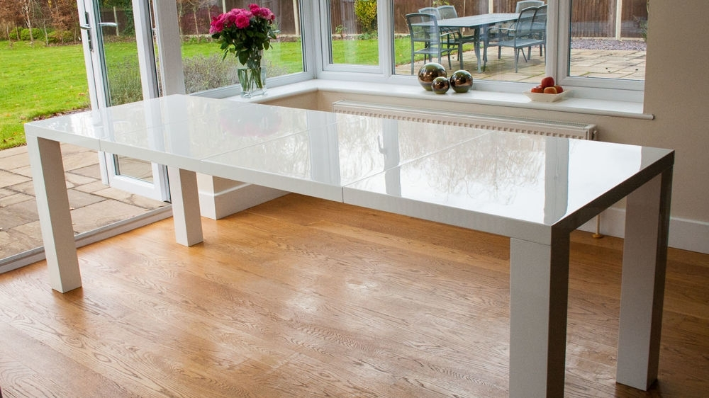 Well Known Gloss Dining Set With Modern White High Gloss Extending Dining Set (View 15 of 20)