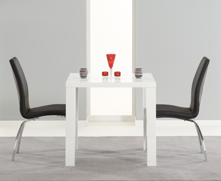 Well Known Gloss White Dining Tables And Chairs Intended For Buy Nikita High Gloss White Dining Table 80, 120 Or 160 Cm (View 18 of 20)