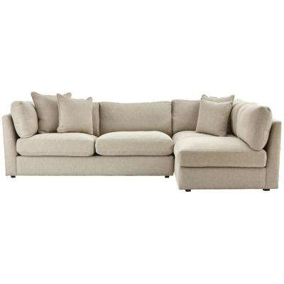 Well Known Gordon 3 Piece Sectionals With Raf Chaise Inside Symmetrical – Sectionals – Living Room Furniture – The Home Depot (View 8 of 15)
