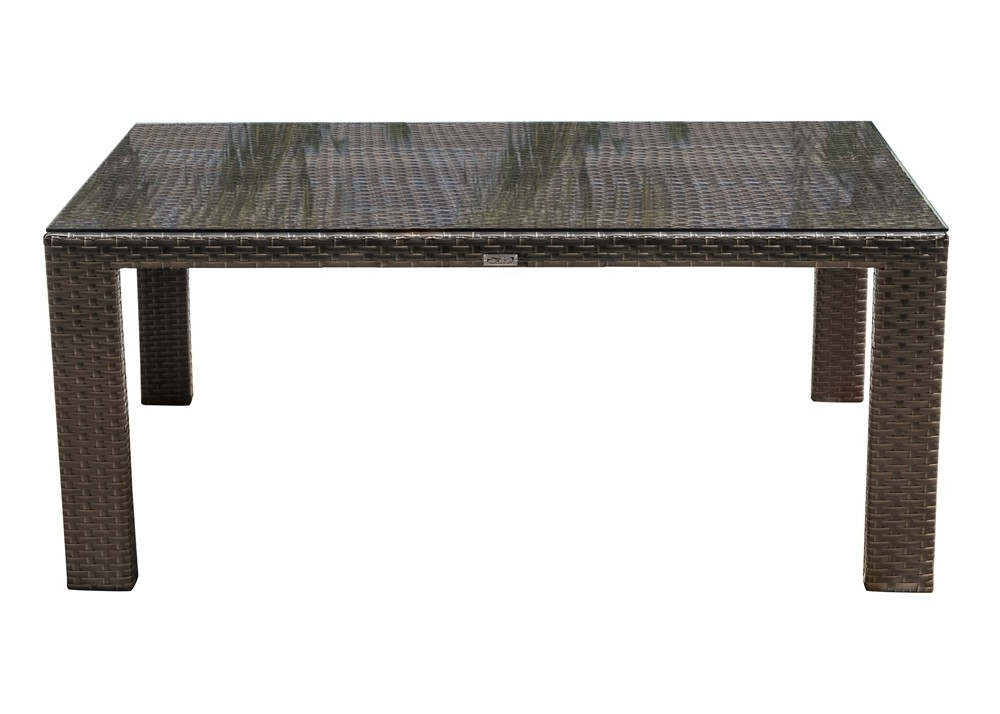 Well Known Hospitality Rattan Fiji Rectangular Wicker Dining Table – Wicker With Rattan Dining Tables (View 19 of 20)