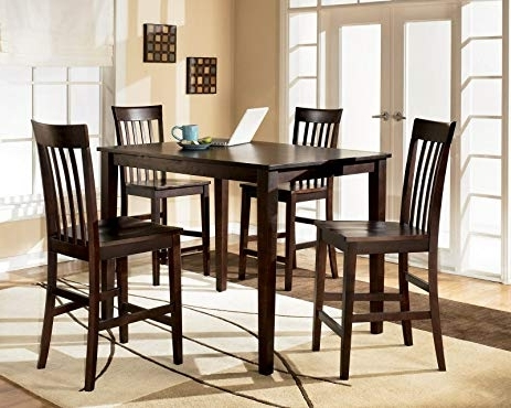 Featured Photo of Hyland 5 Piece Counter Sets With Bench