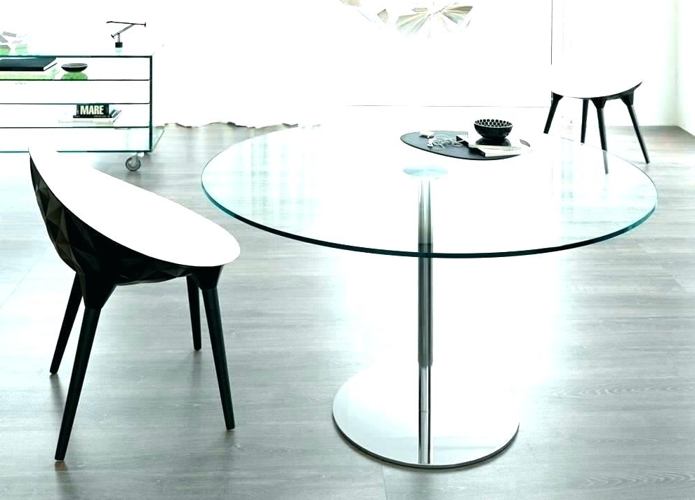 Well Known Ikea Round Glass Top Dining Tables Inside White Glass Dining Table Ikea Round Glass Dining Table Top Kitchen (View 15 of 20)