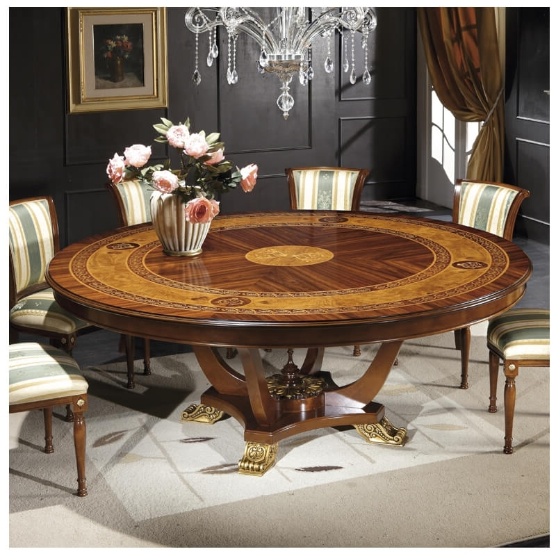 "Well Known Italian Dining Tables Regarding The Ventuno 79""round Italian Dining Table Gv1241 – Italyweb (View 20 of 20)"