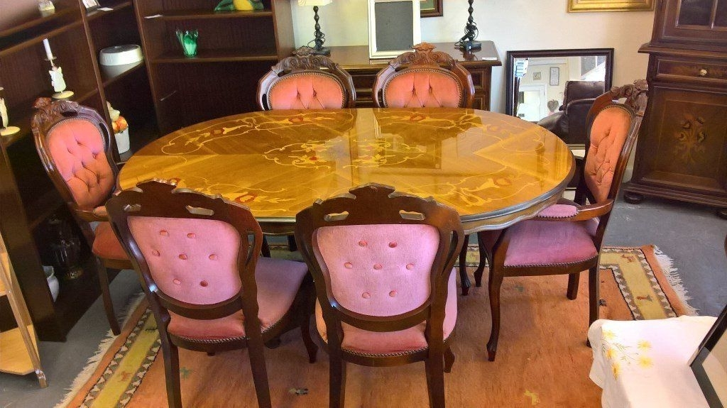 Well Known Italian/french Rocco Style Dining Table And 6 Chairs Pos Delivery Inside Rocco Extension Dining Tables (View 12 of 20)