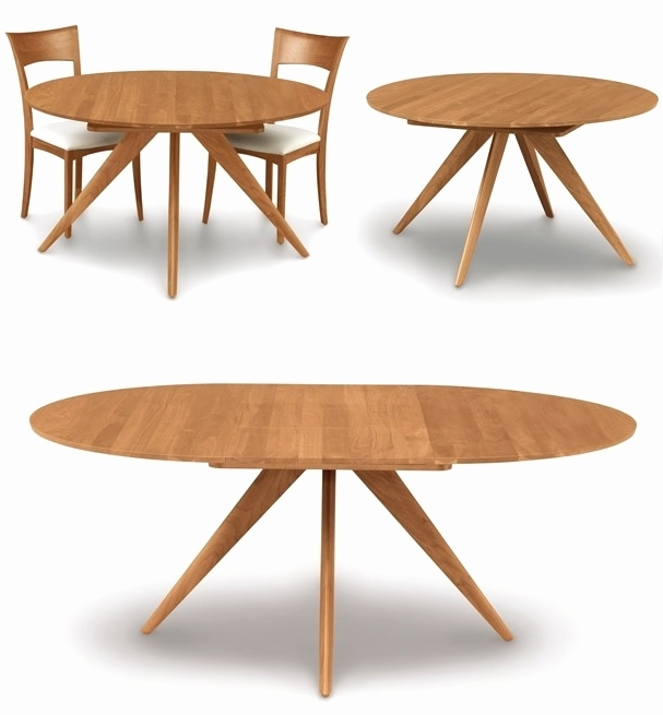 Well Known Jaxon Round Extension Dining Tables Within Maria Yee Ojai Round Extension Dining Table Gump S Intended For (View 20 of 20)