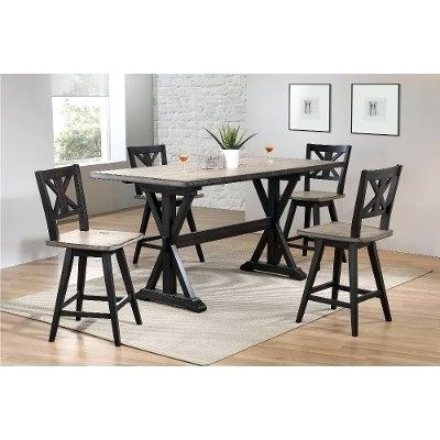 Well Known Jensen 5 Piece Counter Sets Throughout 5 Pc Counter Height Dining Set Exquisite Porter 7 Piece Reviews On (View 20 of 20)