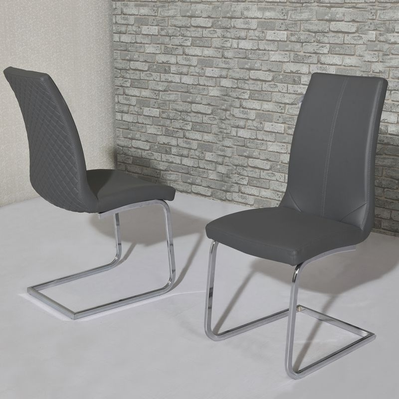 Well Known Kelcy Grey Dining Chair Throughout Grey Dining Chairs (View 19 of 20)