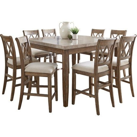 Well Known Lark Manor Portneuf 9 Piece Counter Height Dining Set (View 19 of 20)