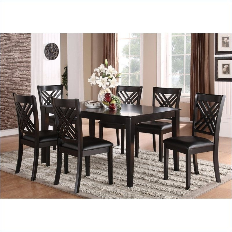 Well Known Lindy Espresso Rectangle Dining Tables For Standard Furniture Brooklyn 7 Piece Rectangular Dining Table Set In (View 3 of 20)