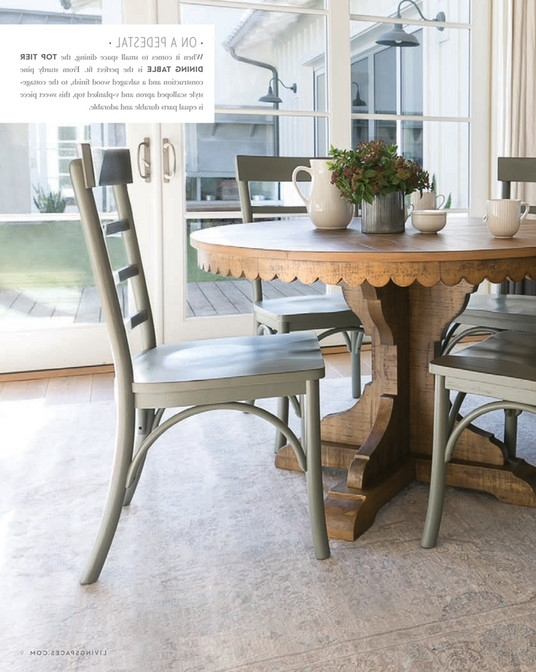 Well Known Living Spaces – Spring 2018 – Magnolia Home Top Tier Round Dining Intended For Magnolia Home Top Tier Round Dining Tables (View 2 of 20)