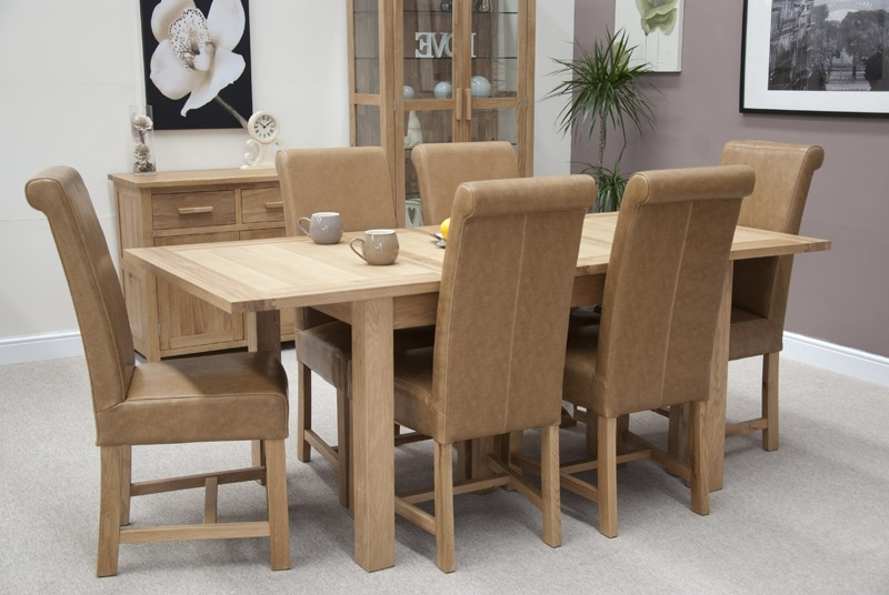 Well Known Louis Oak Chunky Tan Leather Dining Chair Throughout Oak Leather Dining Chairs (View 20 of 20)