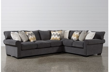 Well Known Lucy Grey 2 Piece Sectionals With Raf Chaise Pertaining To Dark Grey Sectional Lucy 2 Piece W Raf Chaise Living Spaces (View 3 of 15)