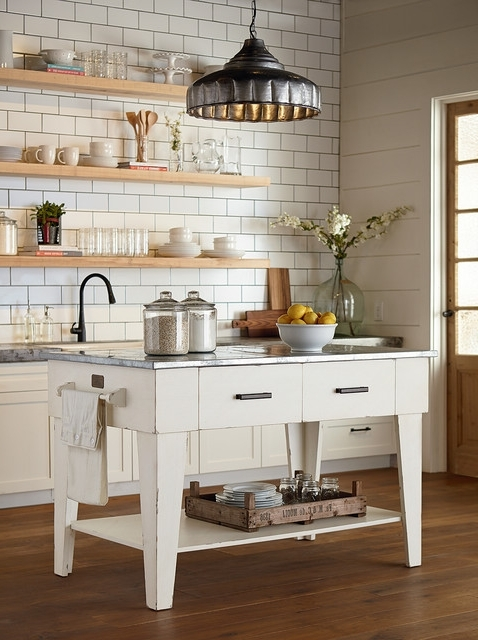 Well Known Magnolia Home – Kitchen Island – Jo's White – Country – Kitchen In Magnolia Home White Keeping 96 Inch Dining Tables (View 18 of 20)