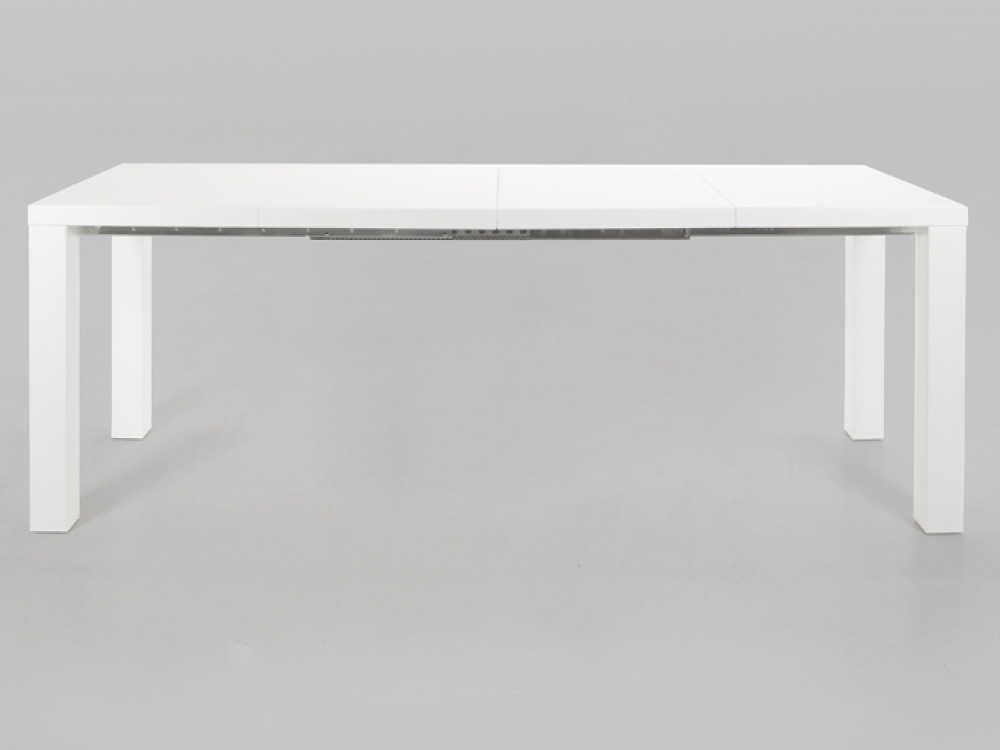 Well Known Malibu White High Gloss Extending Dining Table Inside High Gloss Extending Dining Tables (View 18 of 20)
