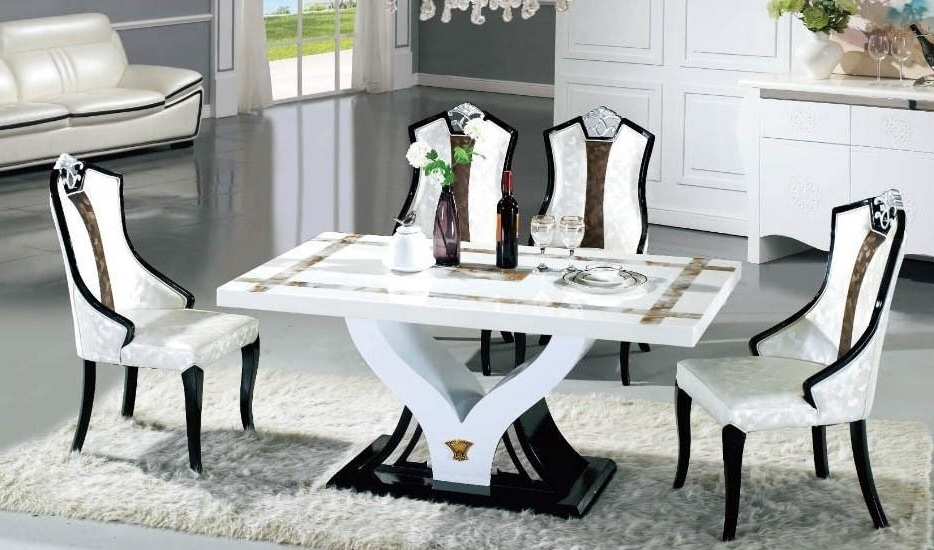 Well Known Marble Dining Dining Table Set In Sydney Warehouse In Marble Dining Chairs (View 20 of 20)