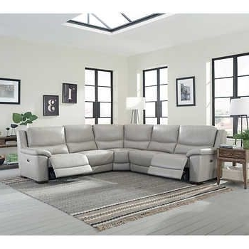 Well Known Marcus Oyster 6 Piece Sectionals With Power Headrest And Usb Pertaining To Stonebrook Top Grain Leather Power Reclining Sectional (View 15 of 15)