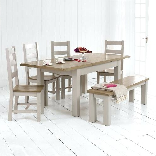 Well Known Market 6 Piece Dining Sets With Side Chairs Pertaining To Dining Table 4 Chairs And Bench Dining Table In Pine With 4 Chairs (View 20 of 20)